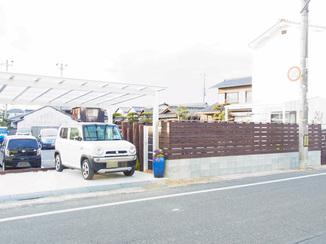 エクステリアリフォーム オシャレで機能性も充分!フェンスやカーポート