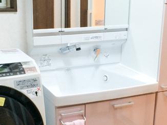 洗面リフォーム 今後の暮らしを想定し丁寧に仕上げた洗面室